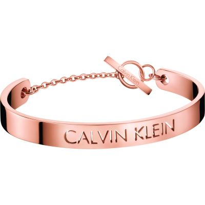 Calvin Klein Dames Message Bangle Verguld Rose Goud KJ7CPF10030S