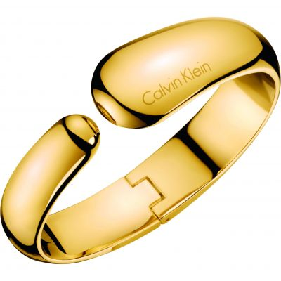 Ladies Calvin Klein Gold Plated Small Informal Bangle KJ6GJD10010S