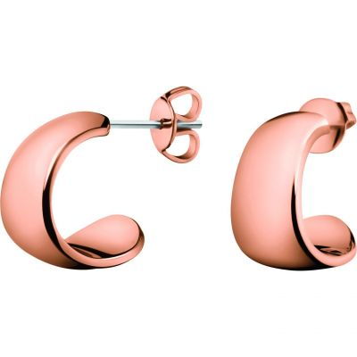 Ladies Calvin Klein Rose Gold Plated Informal Earrings KJ6GPE100100