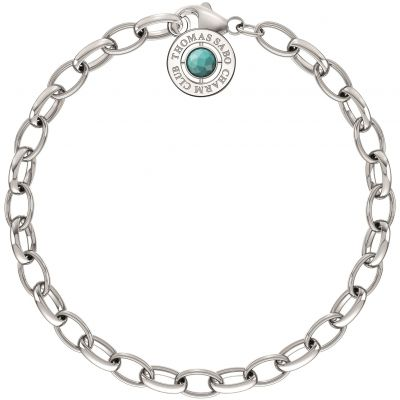 Ladies Thomas Sabo Sterling Silver Summer Charm Bracelet 17cm X0229-404-17-L17