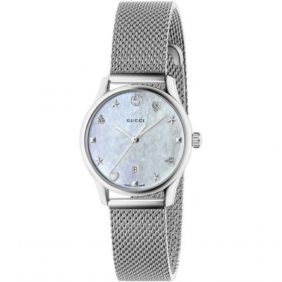 Gucci G-Timeless Damenuhr in Silber YA126583