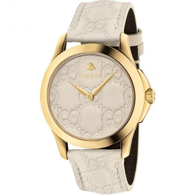 Gucci G-Timeless Slim Dameshorloge Creme YA1264033