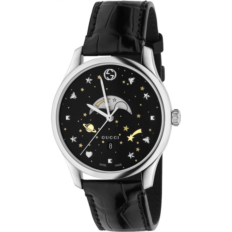 Mens Gucci G-Timeless Slim Moonphase Watch YA126327