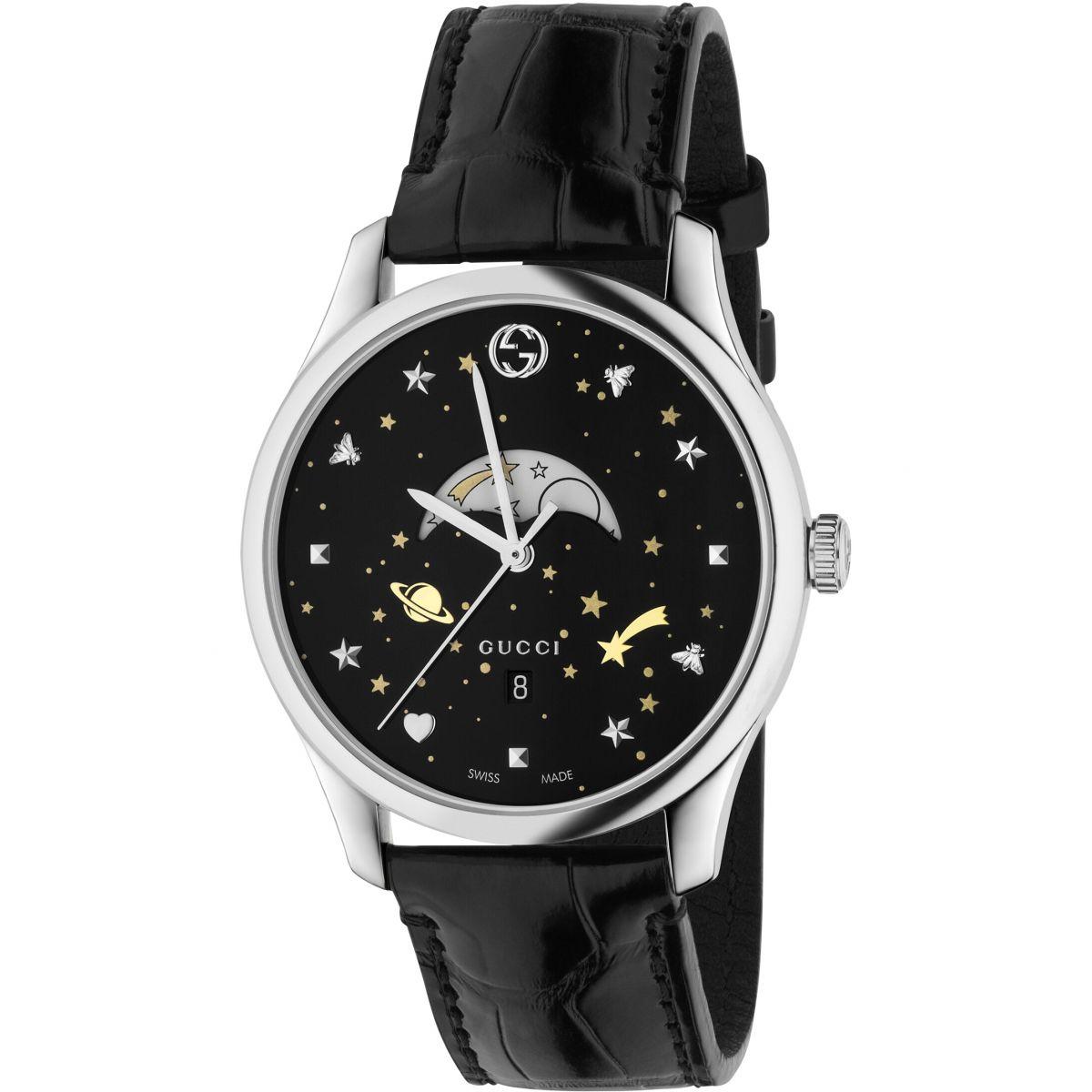 gents gucci g timeless slim moonphase watch ya126327 watchshop com rh watchshop com LED Watch Instruction Manual Smael Watch User Manual