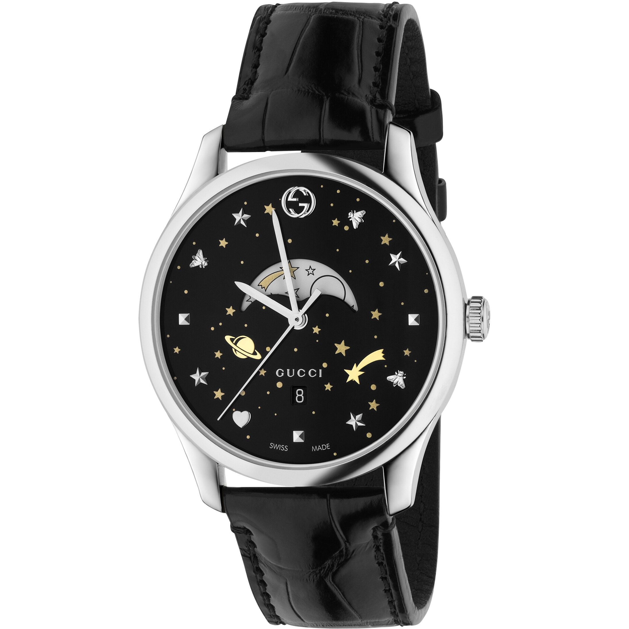 1de28562a2c Gents Gucci G-Timeless Slim Moonphase Watch (YA126327)