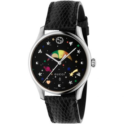 Gucci G-Timeless Slim Moonphase Dameshorloge Zwart YA1264045