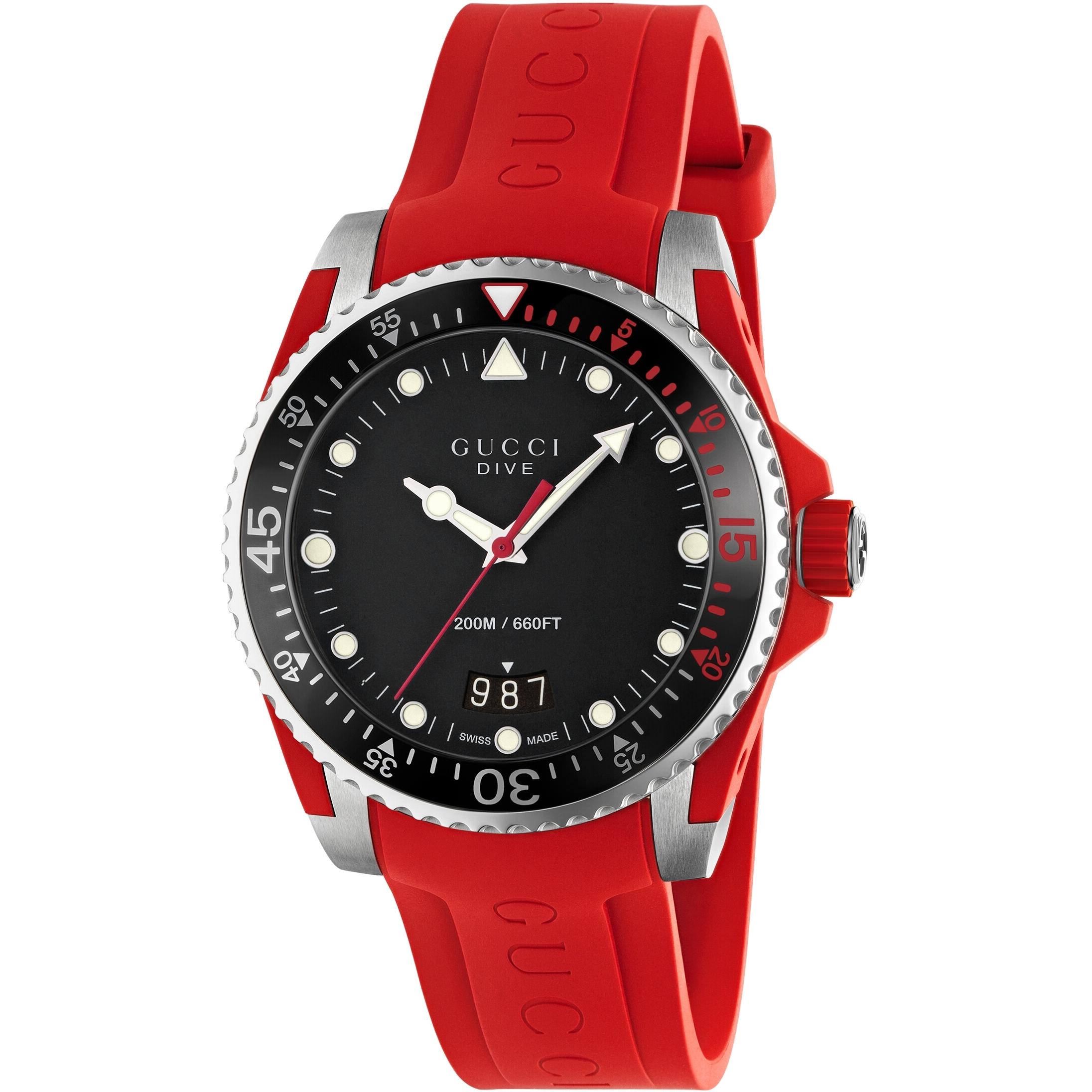 67f4fae8f35 Unisex Gucci Dive Watch (YA136309)