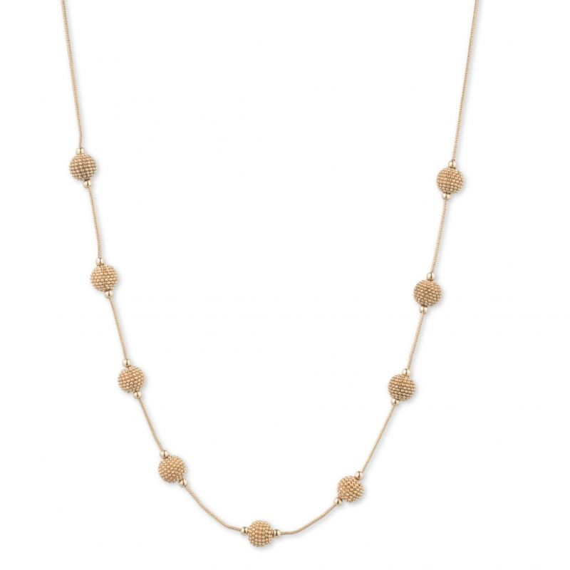 Ladies Anne Klein Gold Plated Stationed Ball Choker 60474030-887