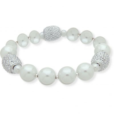 Ladies Anne Klein Base metal Simulated Pearl Bracelet 60476127-G03