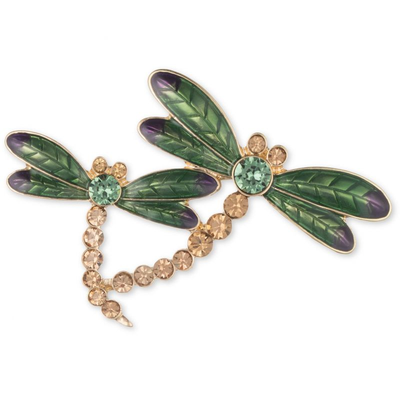 Ladies Anne Klein Gold Plated Dragonfly Brooch 60399671-887