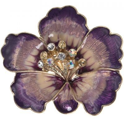 Anne Klein Dames Flower Brooch Verguld goud 60414703-887