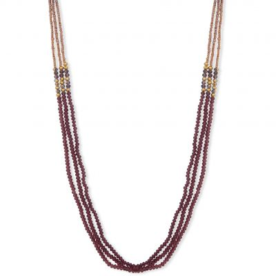 Ladies Lonna And Lilly Gold Plated Beaded Double Strand Necklace 60477606-E50