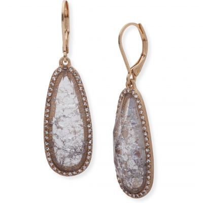 Ladies Lonna And Lilly Rose Gold Plated Stone Earrings 60477644-906