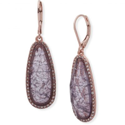 Ladies Lonna And Lilly Rose Gold Plated Stone Earrings 60477648-2GR