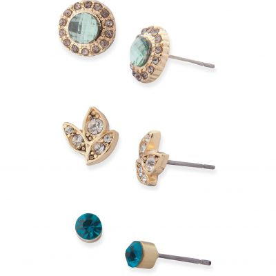 Ladies Lonna And Lilly Gold Plated Trio Stud Earrings 60477662-900