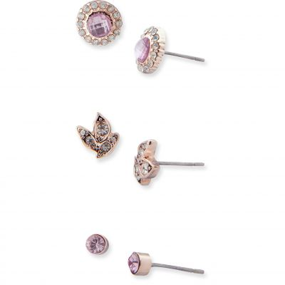 Ladies Lonna And Lilly Rose Gold Plated Trio Stud Earrings 60477665-E50