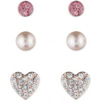 Ladies Lonna And Lilly Rose Gold Plated Trio Stud Earrings 60440740-9DH