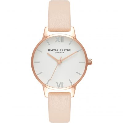 White Dial Midi Dial Rose Gold & Nude Peach Watch