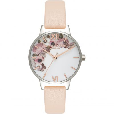 Signature Floral Rose Gold Silver  & Nude Peach Watch