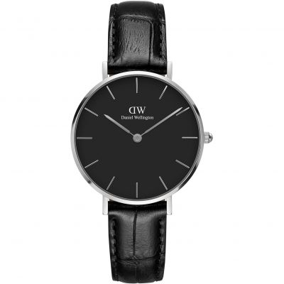 Daniel Wellington Classic Petite Reading Unisexuhr in Schwarz DW00100179