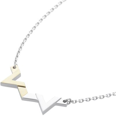 Ladies STORM Two-tone steel/gold plate Venus Necklace VENUS-NECKLACE-GOLD