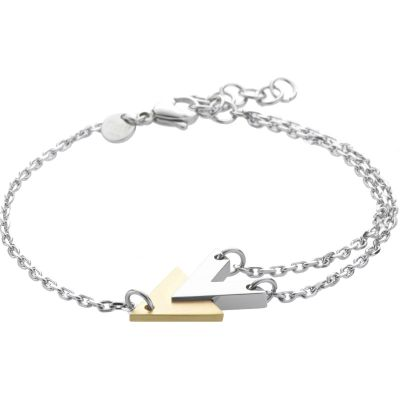 Ladies STORM Two-tone steel/gold plate Venus Bracelet 9980763/GD