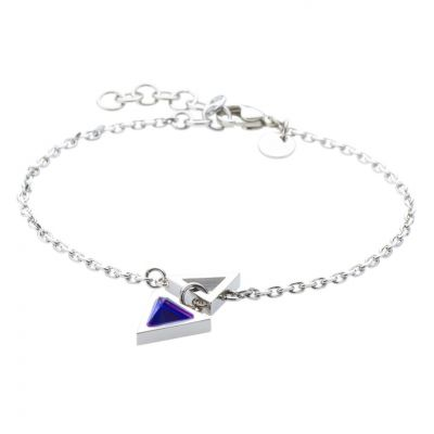 Ladies STORM Silver Plated Triana Lazer Blue Bracelet 9980766/LB