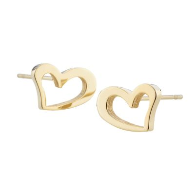Ladies STORM Gold Plated Heart Stud Earrings 9980695/GD