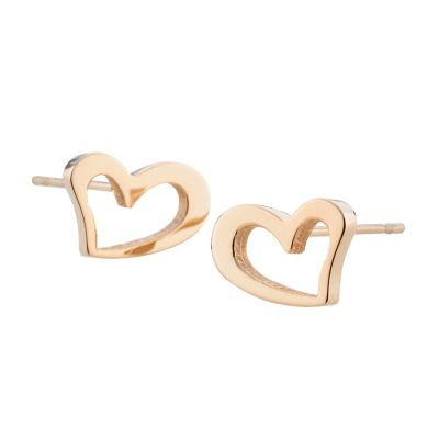 Ladies STORM Rose Gold Plated Heart Stud Earrings 9980695/RG