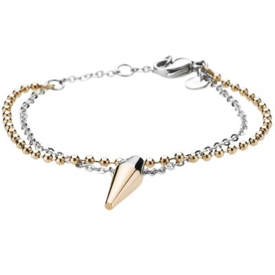 Ladies STORM Two-tone steel/gold plate Pendulum Bracelet 9980553/GD