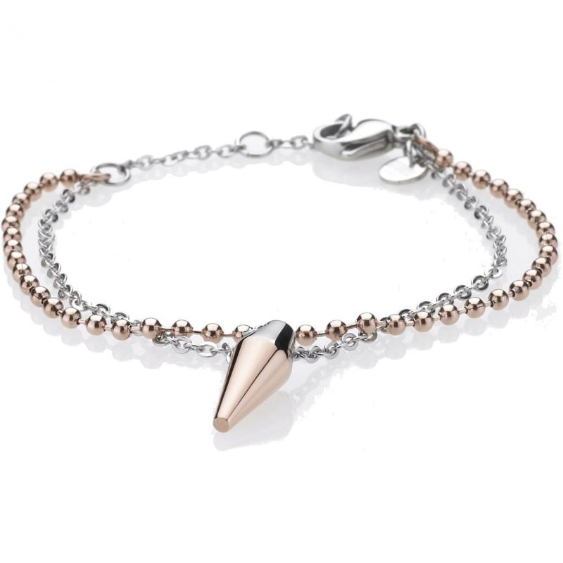 Ladies STORM Two-Tone Steel and Rose Plate Pendulum Bracelet