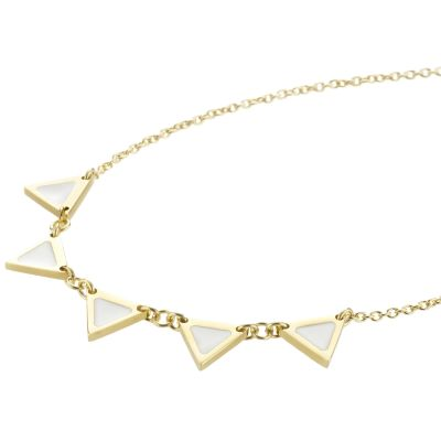 Ladies STORM Gold Plated Enamelli Necklace 9980677/GD