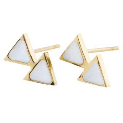 Ladies STORM Gold Plated Enamelli Earrings 9980698/GD