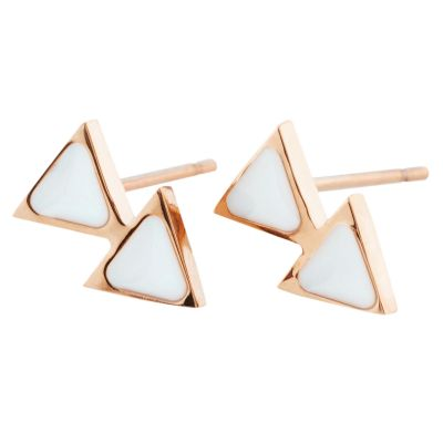 Ladies STORM Rose Gold Plated Enamelli Earrings 9980698/RG