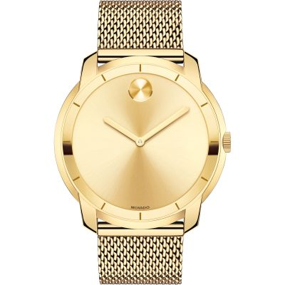 Movado Bold Bold Thin Herrenuhr in Gold 3600373