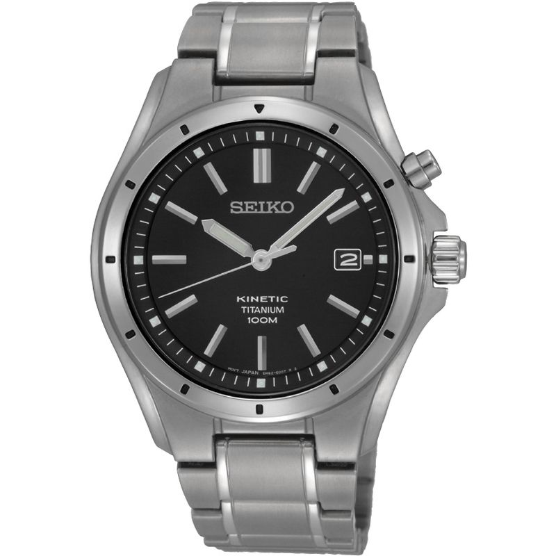 Mens Seiko Titanium Kinetic Watch SKA763P1