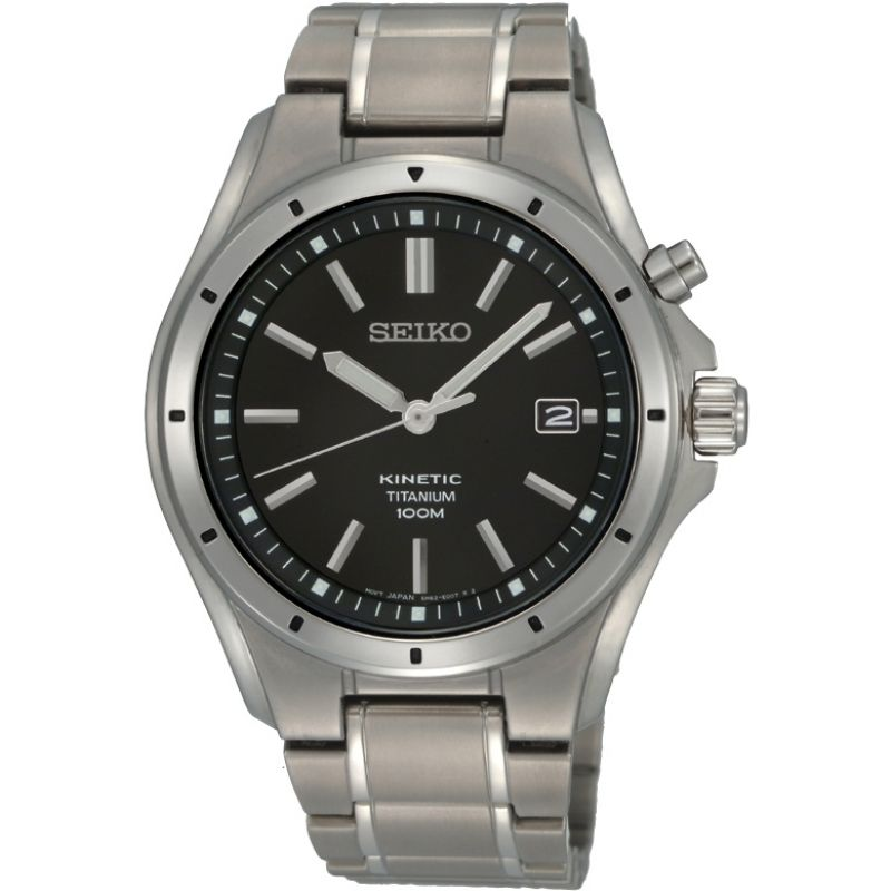 Mens Seiko Titanium Kinetic Watch