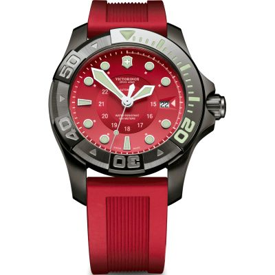 Mens Victorinox Swiss Army Divemaster 500 Black Ice Watch 241577