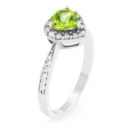 Gemstone Dam Peridot Heart Cluster Ring Size P Sterlingsilver G0046R-PE-P