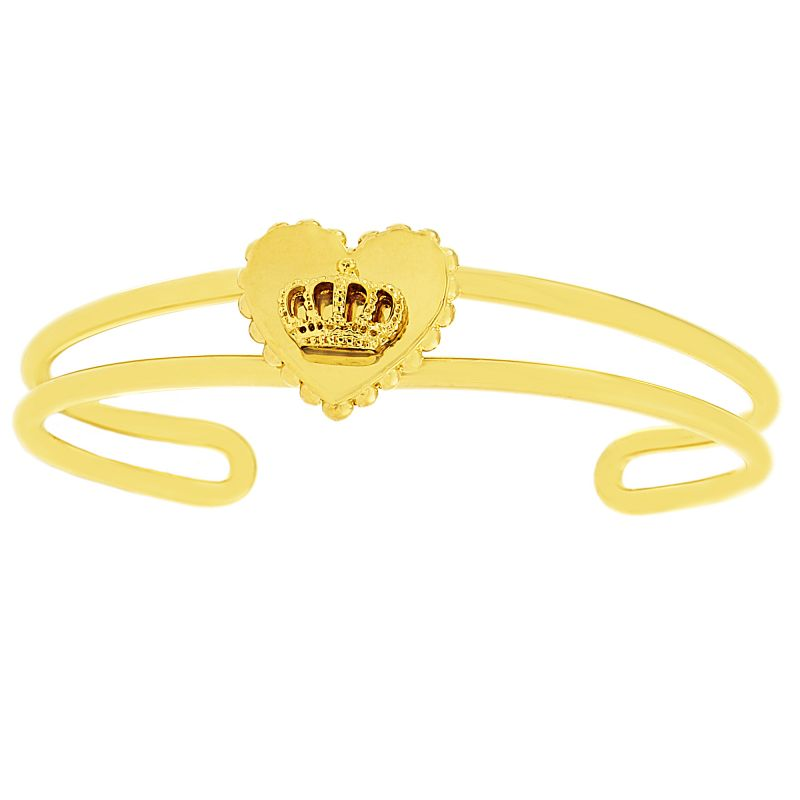 Ladies Juicy Couture Gold Plated Heart Crown Luxe Wishes Bangle WJW78250-712-U