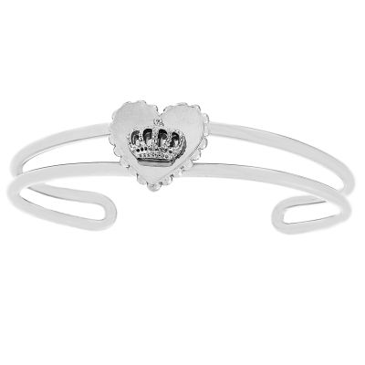 Ladies Juicy Couture Silver Plated Heart Crown Luxe Wishes Bangle WJW78250-040-U