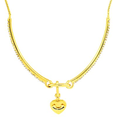 Ladies Juicy Couture Gold Plated Pave Starter Choker WJW79363-712-U