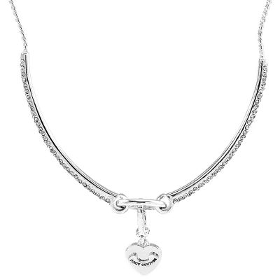 Ladies Juicy Couture Silver Plated Pave Starter Choker WJW79363-040-U
