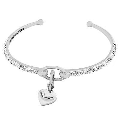Ladies Juicy Couture Silver Plated Pave Starter Bangle WJW79364-040-U