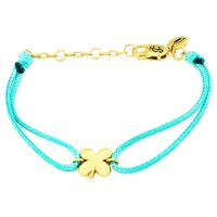 Ladies Juicy Couture Gold Plated Lucky Cord Bracelet WJW82958-712-U