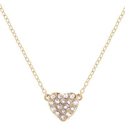 Ladies Ted Baker Gold Plated Pave Crystal Heart Necklace TBJ1516-02-02
