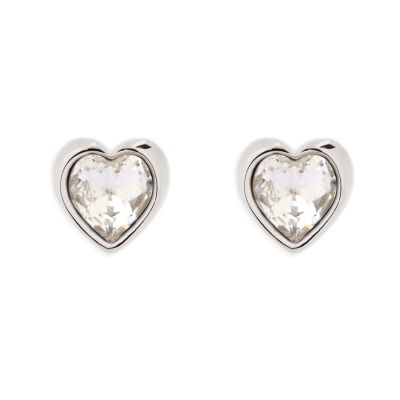 Biżuteria damska Ted Baker Jewellery Crystal Heart Stud Earrings TBJ1654-01-02