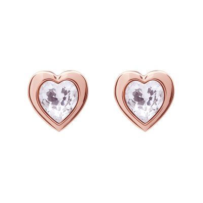 Ted Baker Dam Crystal Heart Stud Earrings Roséguldspläterad TBJ1654-24-02