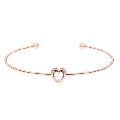 Biżuteria damska Ted Baker Jewellery Crystal Heart Ultrafine Cuff Bangle TBJ1682-24-02