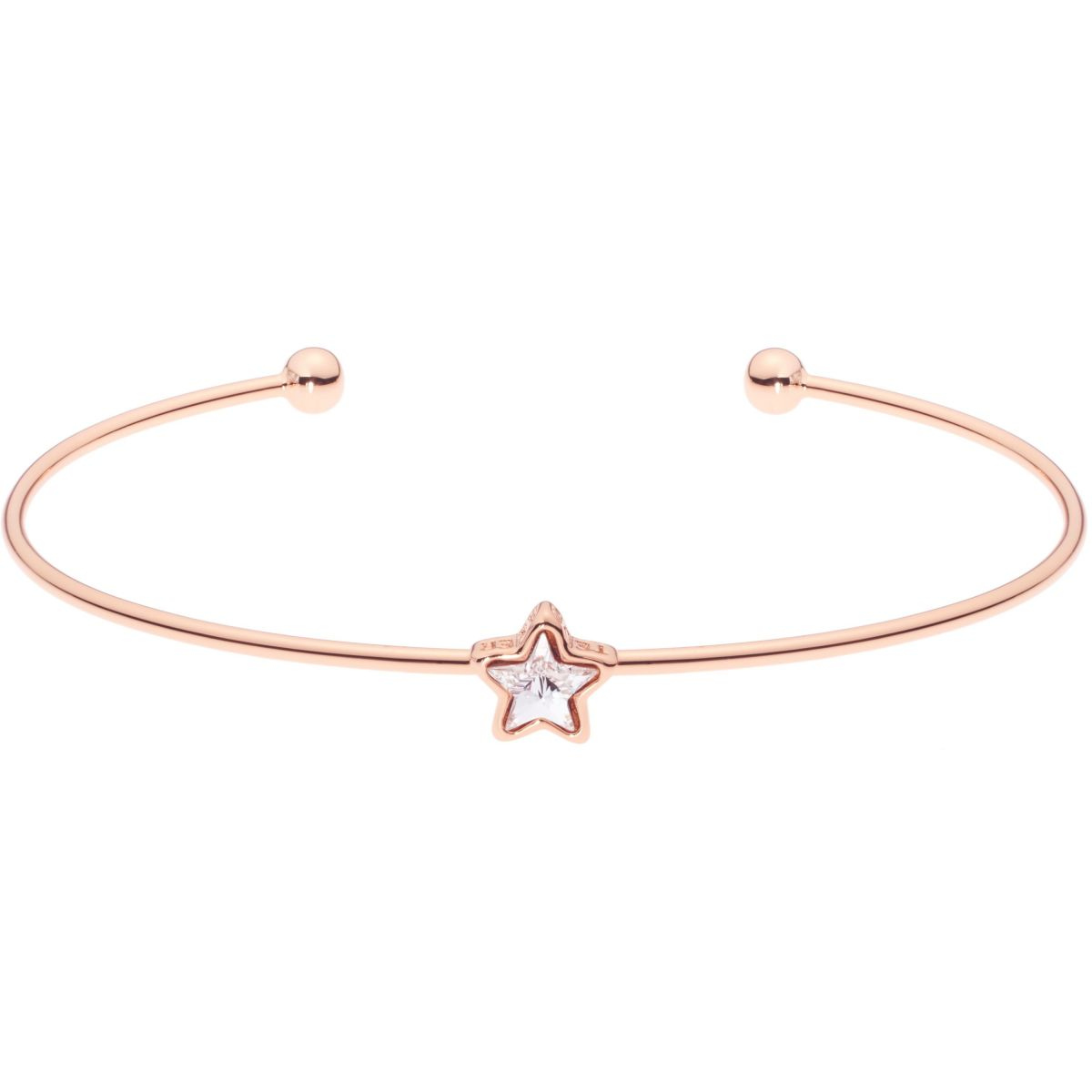 rose ladies ted gold star crystal plated bangle ultrafine bangles cuff baker jewellery